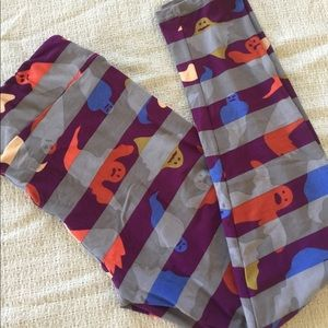 NWT LulaRoe Leggings TC Ghosts Striped